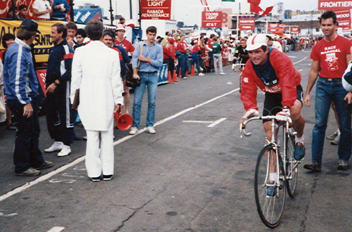 Benard Hinault, he won the Tour de France in 1985 one year ahead of teammate LeMond.  He helped LeMond win the Coors Classic. Hinaualt won the road stage as well as a Time Trial.