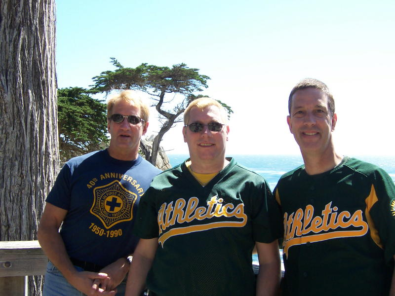 Jim, Dennis and Dave at Pebble Beach.