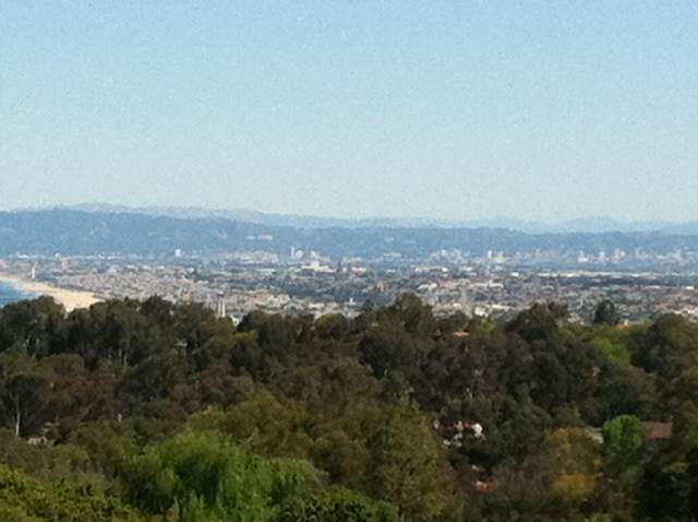 A view of Long Beach, CA from the hills above during the middle portion of the ride.