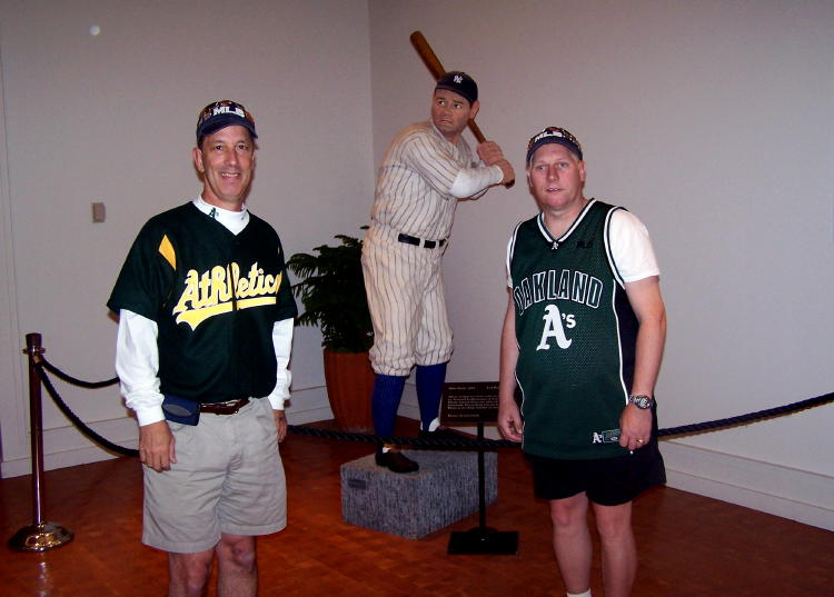 Dave and Dennis in the lobby of the Baseball Hall of Fame