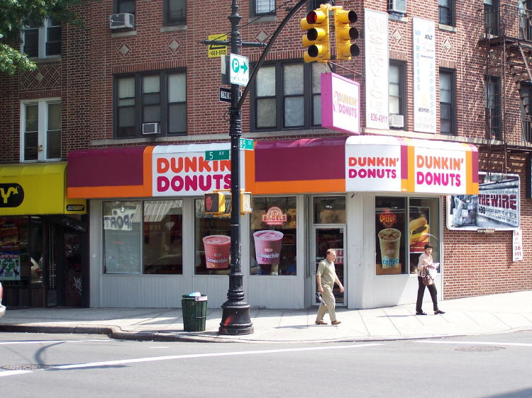 Dennis loves Dunkin Donutes.  They are a lot better than anything we have in the San Francisco Bay Area.