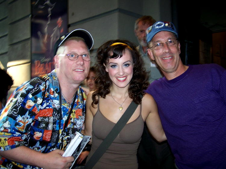 Dennis and Dave with Brynn O'Malley who played the role of Belle