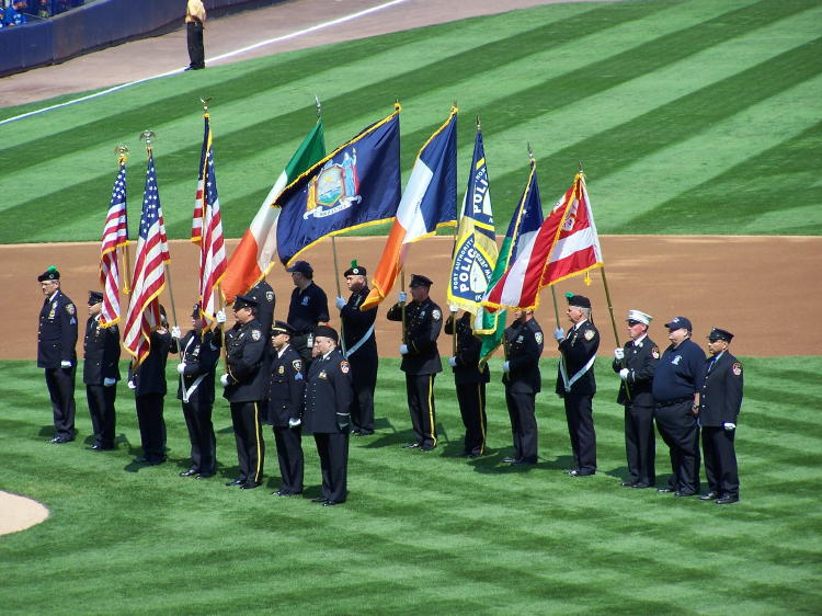 The game took place on September 10, 2006.  The fifth anniversary of 9/11 was the next day.  There were ceremonies and special events to remember those lost in the explosions.