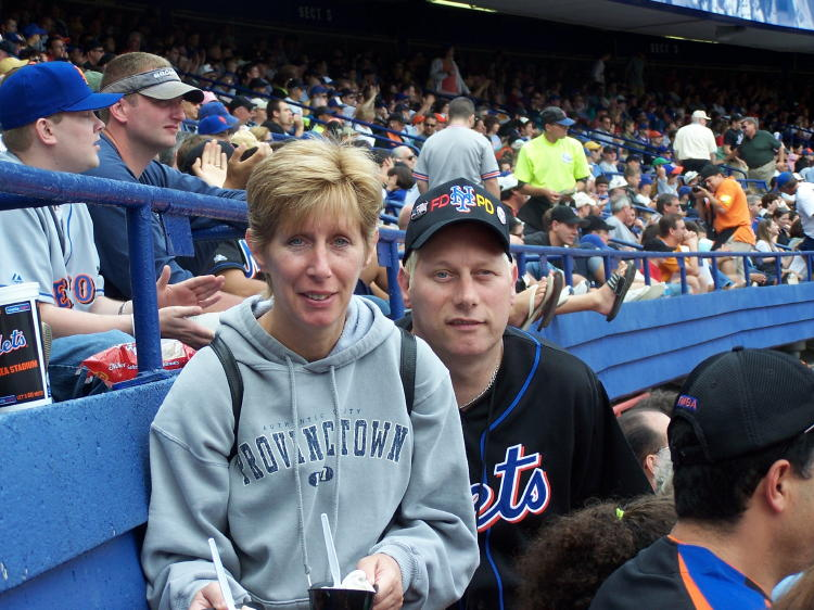 Denise and Dennis at the Mets game.